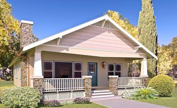 Dise o de casa de 3 dormitorios con porch frontal planos for Casa clasica 2 dormitorios techo inclinado