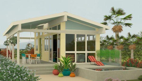 Casa contempor nea peque a de 1 dormitorio planos de for Modificaciones de casas pequenas