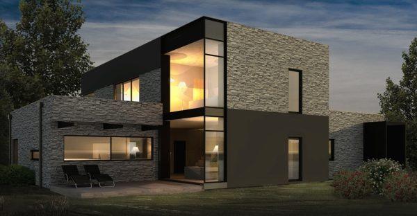 Planos de casas modernas 2018 planos de casas 3d for Casa moderna 3 habitaciones