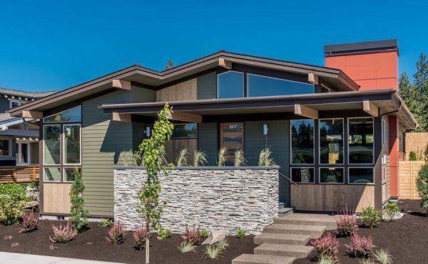 Dise o de moderna casa de 3 dormitorios en 1 piso planos for Casa procrear clasica techo inclinado 3 dormitorios