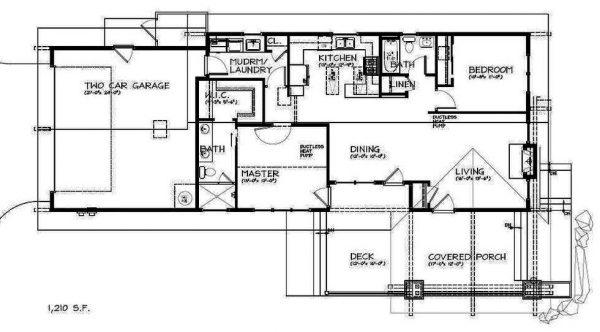 Casa Clásica de Dos Dormitorios en Una Planta
