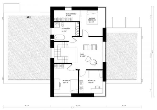 Casa moderna de 4 dormitorios planos de casas 3d for Casa procrear clasica techo inclinado 3 dormitorios