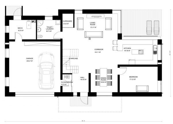 Casa planta baja moderna awesome casa con las de la for Casas de planta baja modernas
