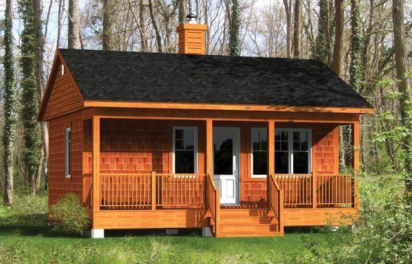 Casa Pequena Tipo Cabana De 35m2 Planos De Casas 3d