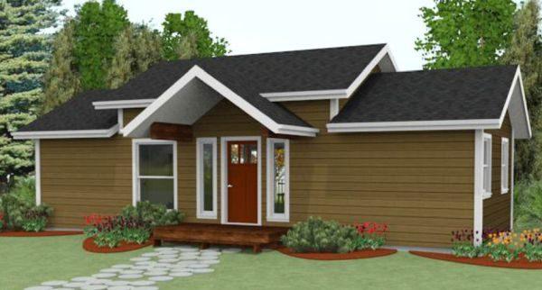 Casa sencilla y econ mica de 2 dormitorios planos de for Casas sencillas y economicas