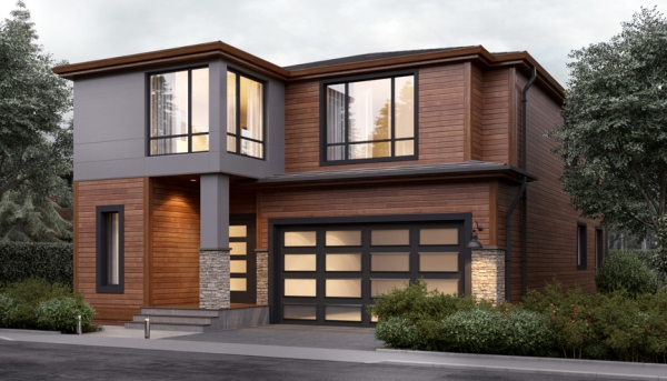 Casa moderna de dos pisos con 4 dormitorios planos de for Casas modernas fachadas de un piso