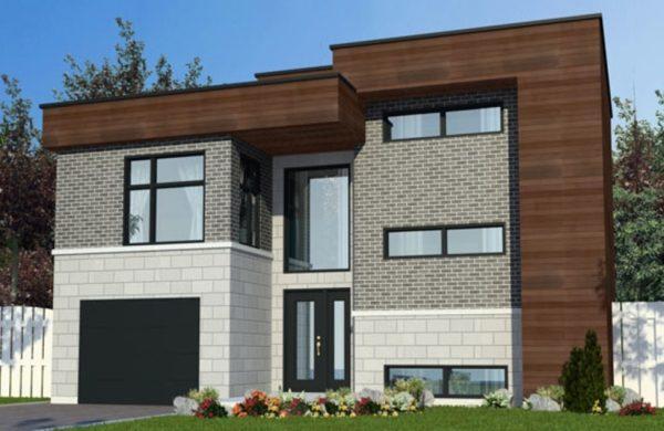 Casa moderna de dos pisos con dos dormitorios planos de for Casa moderna 5 dormitorios