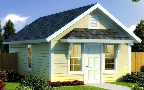 Casa cl sica peque a de 1 dormitorio planos de casas 3d for Casa procrear clasica techo inclinado 3 dormitorios