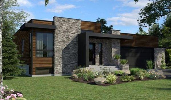 Casa Moderna con Dos Dormitorios