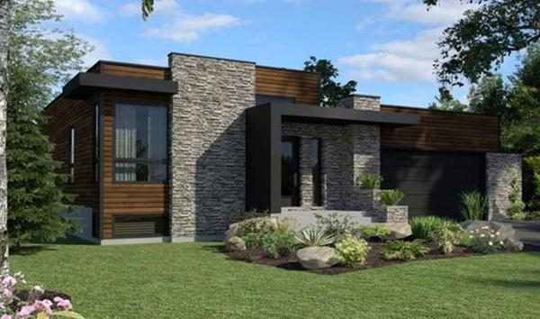 Casa moderna con dos dormitorios planos de casas 3d for Casa moderna 3 dormitorios