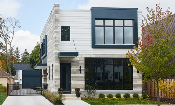 Casa moderna de dos pisos y tres dormitorios planos de for Pisos elegantes para casas