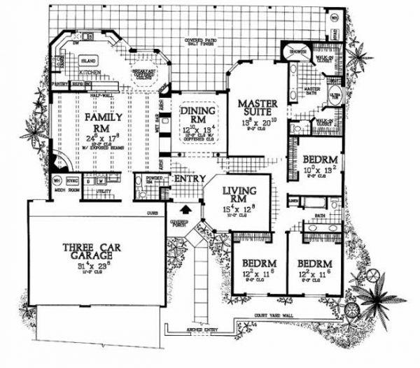 Plano de Casa Moderna de Adobe