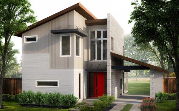 Casa moderna minimalista de 2 pisos planos de casas 3d for Casa minimalista 3 pisos